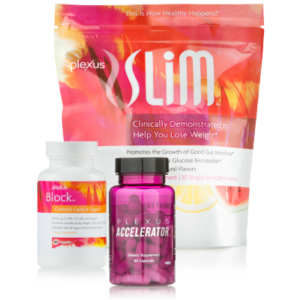 This powerful combination of Plexus Slim, Accelerator+ and Block is a great way to burn fat more efficiently, help block the absorption of up to 48% of carbs and sugars from your meal, and support healthy glucose metabolism so you can boost your weight loss goals.*