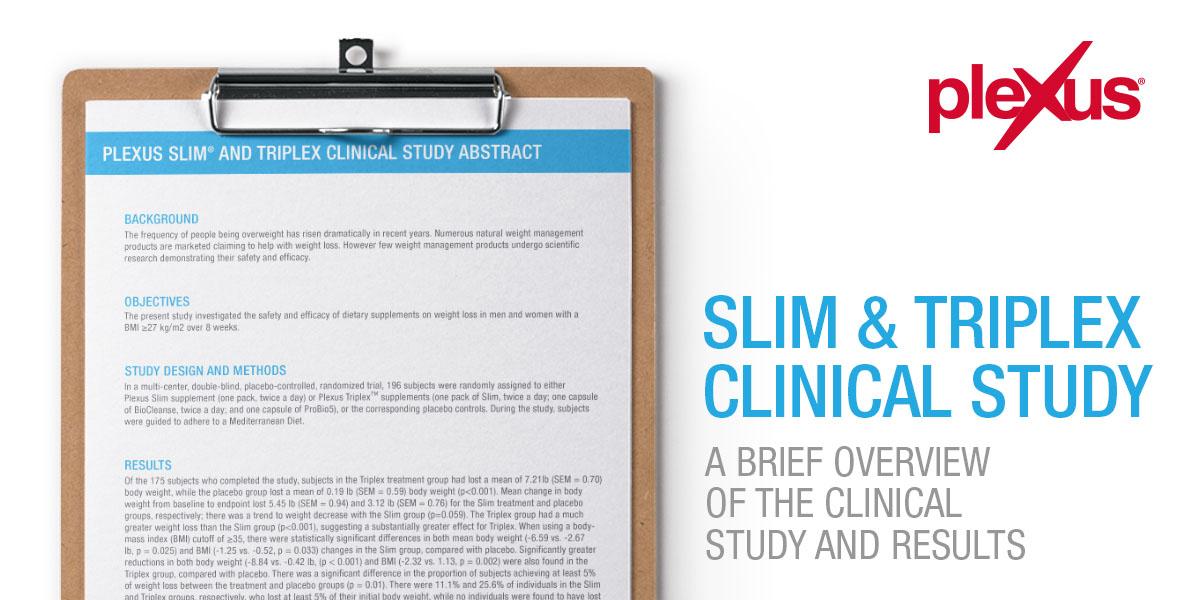 Clinical Study Abstract - Plexus Worldwide
