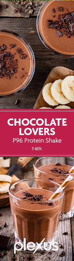 This Plexus 96® Chocolate Lovers Protein Shake pretty much has it all: it's creamy, sweet, low in calories, and packed with protein.