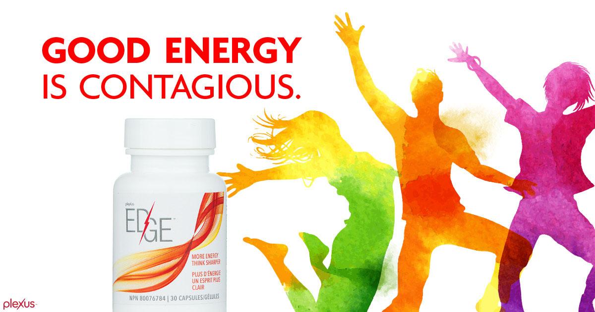 Good energy is contagious with plexus edge ad