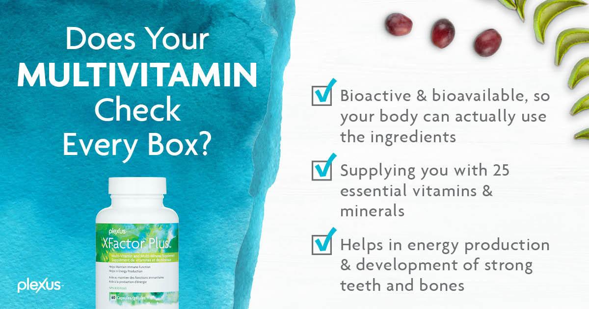 plexus vitamins check list